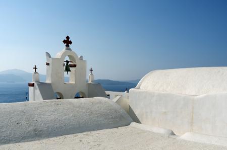 Church in Thira on Santorini island in Greece