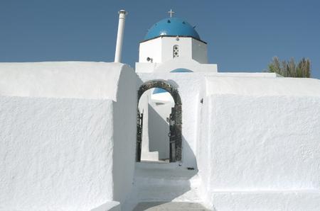 Church in Oia on Santorini island in Greece
