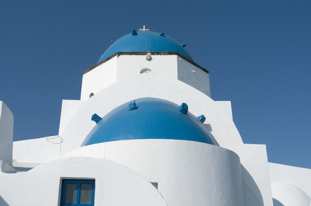 Church in Oia on Santorini island in Greece  photo