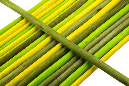Colored sticks for use as decoration material  Stock Photo