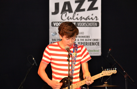 occurrence: NETHERLANDS - VOORSCHOTEN - CIRCA JUNE 2012  The Breaks during the occurrence overalls Jazz Culinary