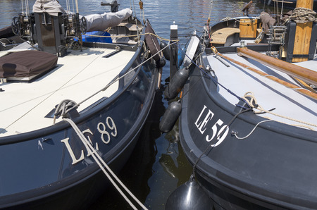 NETHERLANDS - BLADE - CIRCA MAY 2014   Luxury yachts are docked at the port of Lemmer