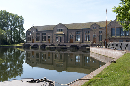 The ir D F  Wouda pumping station in Tacozijl, Friesland, The Netherlands