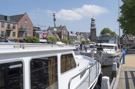 lemmer: NETHERLANDS - LEMMER - MEDIA JULY 2014  Pleasure yachts in the port of Lemmer in Friesland, Netherlands