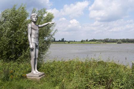 NETHERLANDS - ZALTBOMMEL - CIRCA AUGUST 2014: Waterhoogtebeeld by artist Marcel Smink.