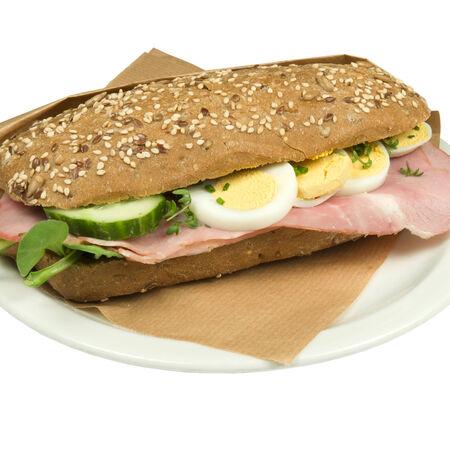 Ciabatta bread pork.