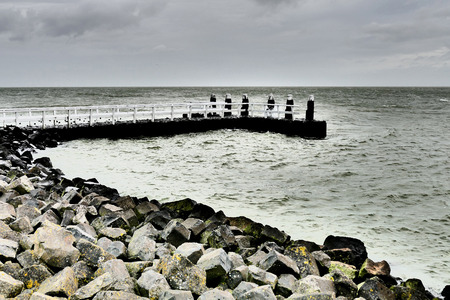 reclamation: Berth on the Afsluitdijk in the Netherlands.