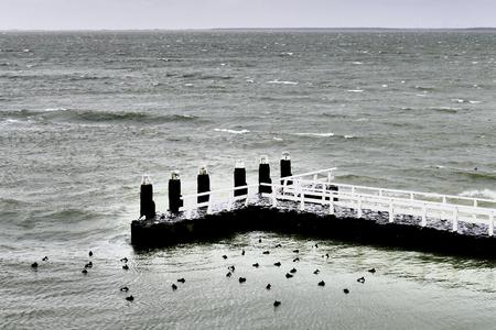 berth: Berth on the Afsluitdijk in the Netherlands.