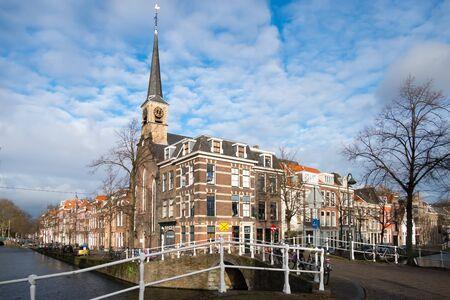 delft: NETHERLANDS - DELFT - DECEMBER CIRCA 2014: Cityscape the Lutheran Church. Editorial
