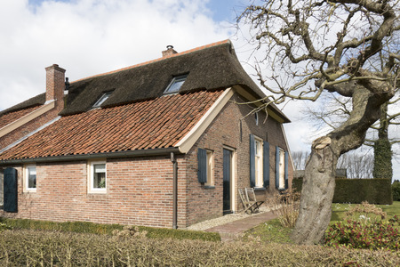 smallest: NETHERLANDS - BRONCKHORST - CIRCA MARCH 2015: Farmhouse in the smallest city in the Netherlands.