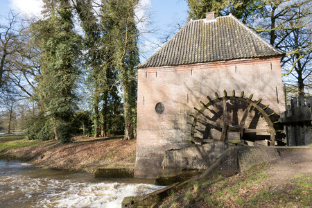 watermill: Watermill at Hackfort castle in Vorden in the Netherlands.