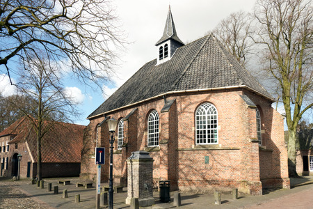 NETHERLANDS  BRONCKHORST - CIRCA MARCH 2015: Reformed Church in the smallest city in the Netherlands.