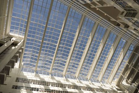municipal editorial: NETHERLANDS  THE HAGUE  CIRCA MARCH 2015: Roof of the City Hall in The Hague designed by Richard Meier.