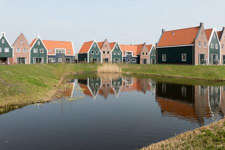 NETHERLANDS - VOLENDAM- CIRCA APRIL 2015: Cottages in the Marina Park at Volendam Roompot parks.