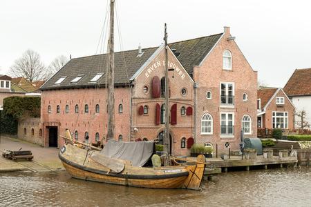 NETHERLANDS  DOKKUM  CIRCA APRIL 2015: Warehouses Erven Brouwer in Dokkum.