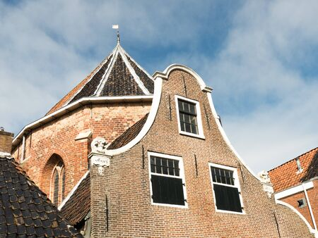 architecture monumental: NETHERLANDS  DOKKUM  CIRCA APRIL 2015: Old facades.