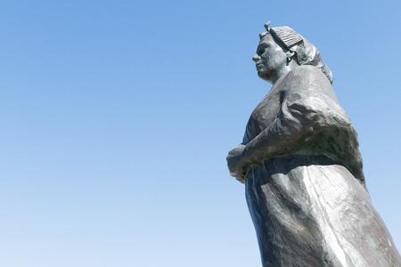 effigy: NETHERLANDS  SCHEVENINGEN  CIRCA APRIL 2015: Fishermens Memorial on the promenade of Gerard Bakker.