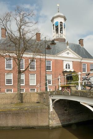 municipal editorial: NETHERLANDS  DOKKUM  CIRCA APRIL 2014: City hall.