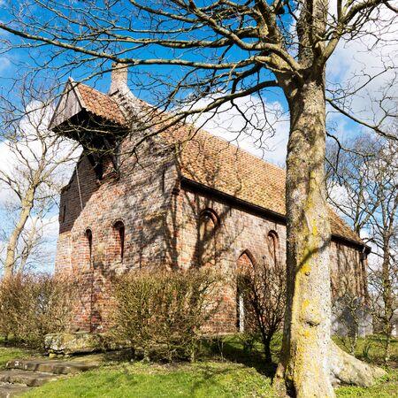 Church in Jannum in Friesland Netherlands.