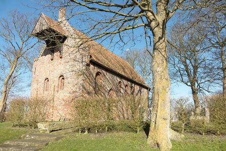 Church in Jannum in Friesland, Netherlands.