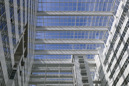 municipal editorial: NETHERLANDS - THE HAGUE - CIRCA JULY 2015: City Hall in The Hague, designed by Richard Meier.