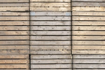 timbering: Wooden crates stacked in Sint-Nicolaasga, Netherlands.