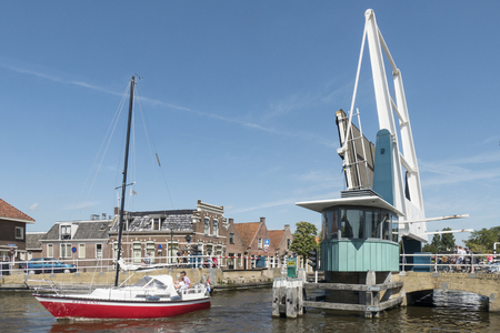 drawbridge: NETHERLANDS - IJLST - MEDIA AUGUST, 2015: Drawbridge in the center of IJlst. Editorial