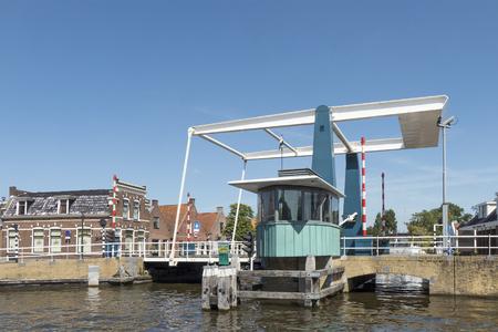 NETHERLANDS - IJLST - MEDIA AUGUST, 2015: Drawbridge in the center of IJlst. Redakční
