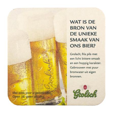 leidschendam: NETHERLANDS - LEIDSCHENDAM - MEDIA OCTOBER 2015: Grolsch beer mat.