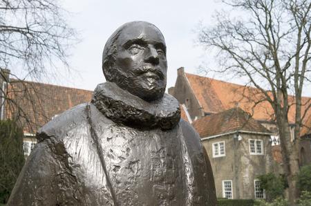 delft: NETHERLANDS - DELFT - CIRCA APRIL 2014: William of Orange in the garden of museum Prinsenhof.