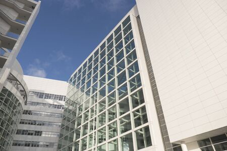 'the hague': NETHERLANDS - THE HAGUE - CIRCA DECEMBER 2015: City Hall in The Hague, designed by Richard Meier.