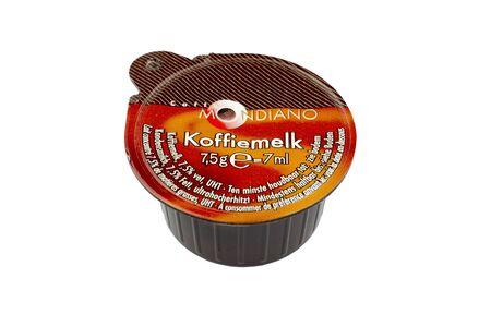 leidschendam: NETHERLANDS - LEIDSCHENDAM - MEDIA OCTOBER 2015: Mondiano milk cup. Editorial