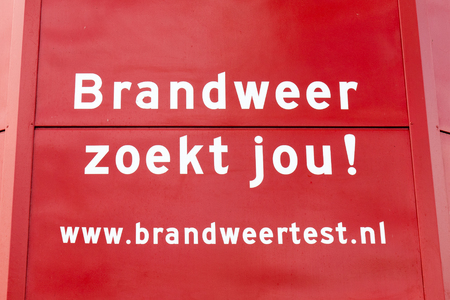 attend: NETHERLANDS - WASSENAAR - MEDIO FEBRUARY 2016: Invitation to attend to a job test at the fire department.