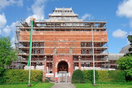 leidschendam: NETHERLANDS - LEIDSCHENDAM - CIRCA APRIL 2014: Renovation of the town hall.
