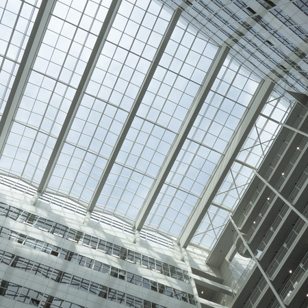 municipal editorial: NETHERLANDS - THE HAGUE - CIRCA MARCH 2016: Roof of the City Hall in The Hague, designed by Richard Meier.