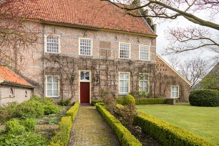 smallest: NETHERLANDS - BRONCKHORST - CIRCA APRIL 2016: Historic mansion in the smallest town of The Netherlands.