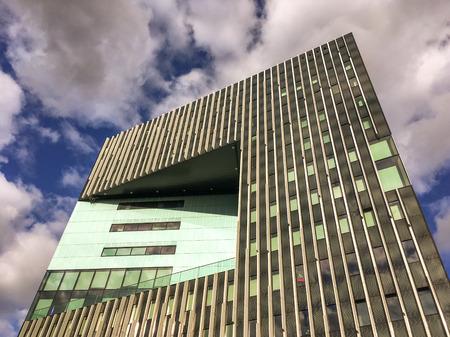 NETHERLANDS - LEIDEN - OCTOBER 10, 2016: Detail of the Level building.