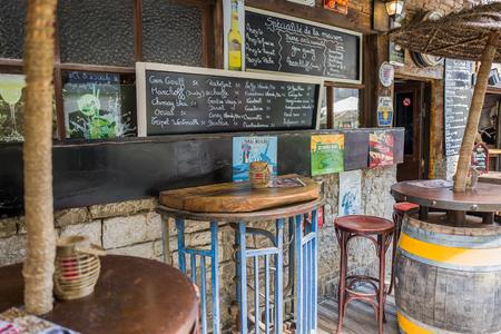 BELGIUM - DURBUY - MEDIO JUNE 2017: Bar Les Racines in Durbuy in Belgium.