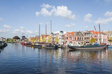NETHERLANDS - LEIDEN - SEPTEMBER 23, 2017: Galgewater in leiden in The Netherlands. Editorial