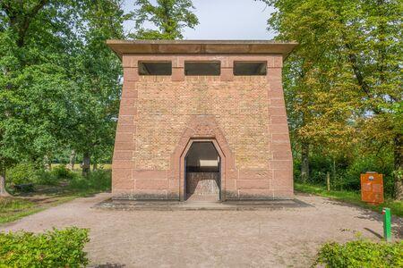 NETHERLANDS - OTTERLO - JULY 18, 2017: The Pump building in The National Park Hoge Veluwe in Otterlo, Netherlands.