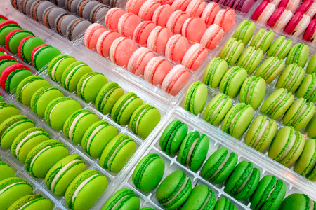 Macarons at the Chocoa Chocolate Festival 2018 in Amsterdam in The Netherlands.