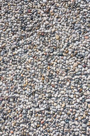 Concrete wall with pebbles in The Hague, Netherlands.
