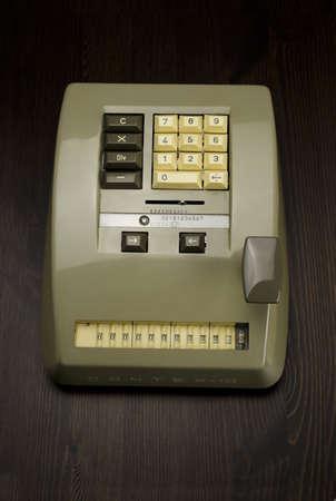 Contex-10 mechanical calculator also called a Comptometer.