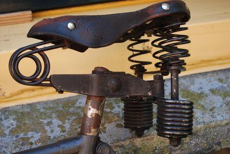 saddle: old bike saddle