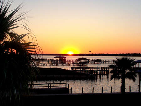 shores: Gulf Shores, Alabama - Bayou Dock at Dusk