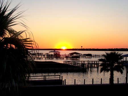 Gulf Shores, Alabama - Bayou Dock at Dusk