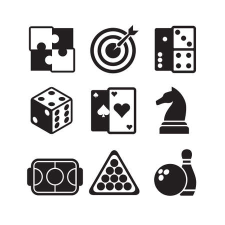 clip board: games icons set Illustration