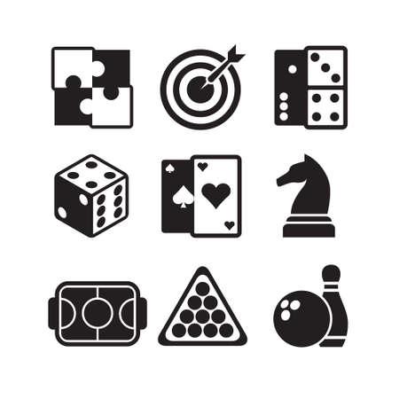 jeu de carte: ic�nes de jeux mis