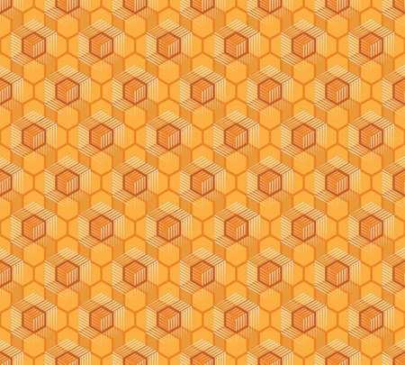 Seamless pattern of honeycombs