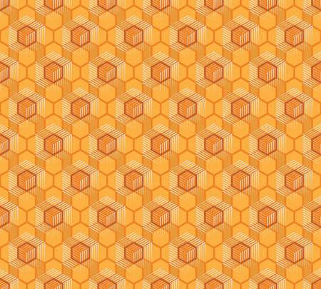 wax glossy: Seamless pattern of honeycombs